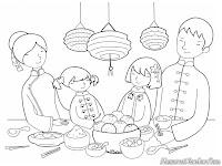 Makan Bersama Keluarga Dalam Perayaan Hari Imlek