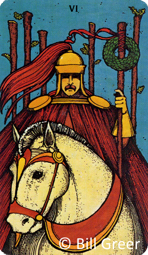 Morgan Greer Tarot - Six of Wands