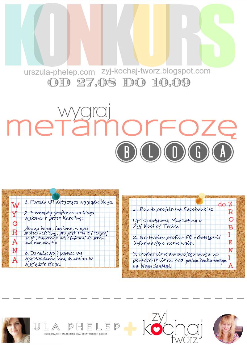 konkurs, metamorfoza bloga, piękny blog, porady, blogger
