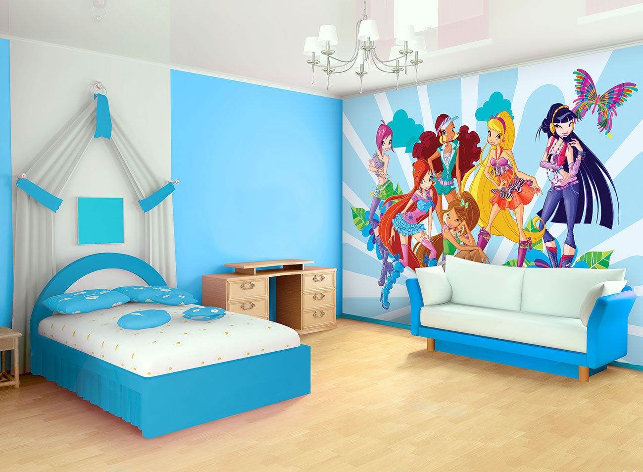 Nuevo papel para la pared winx club trendy y sirenix - Papel para pared ...