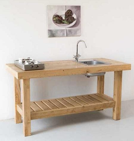 Rustic and minimalist kitchen furniture by katrin arens for Muebles de cocina de madera rusticos