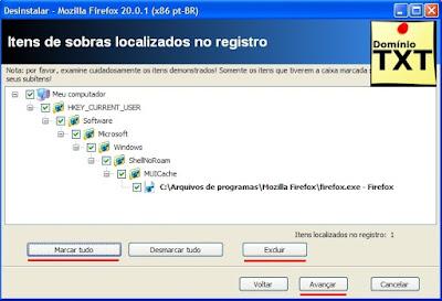 DominioTXT - RevoUninstaller Removendo registros