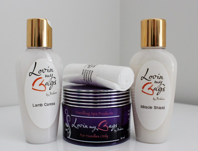 This Is The Lovin My Bags Products I Mainly Use Lamb Caress For Handles Only And Miracle Shield You Can Purchase Them Here