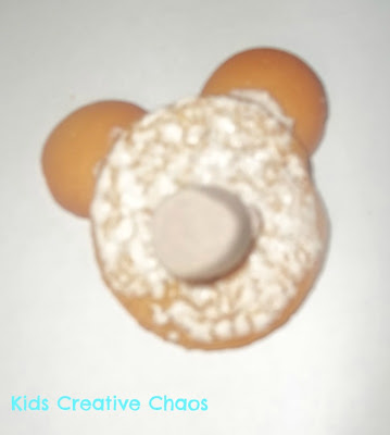 teddy bear or groundhog edible craft for preschool - Punxsutawney Phil