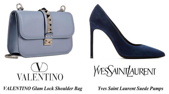Princess Victoria's Valentino bag and Yves Saint Laurent Shoes