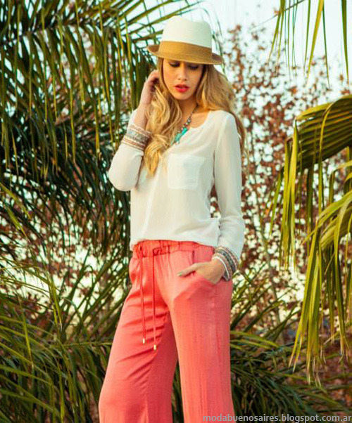 Pantalones de verano 2014 mujer marcas argentina.