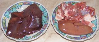 retete si preparate culinare din organe de porc pentru tochitura, ficat de porc, rinichi de porc, inima de porc,