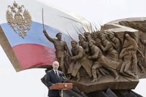 Presiden Rusia, Vladimir Putin saat berpidato di depan pejabat militer Rusia
