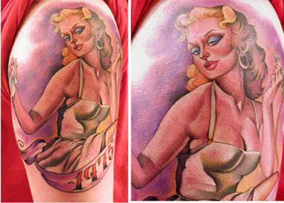 Tatuaje de Pin Up