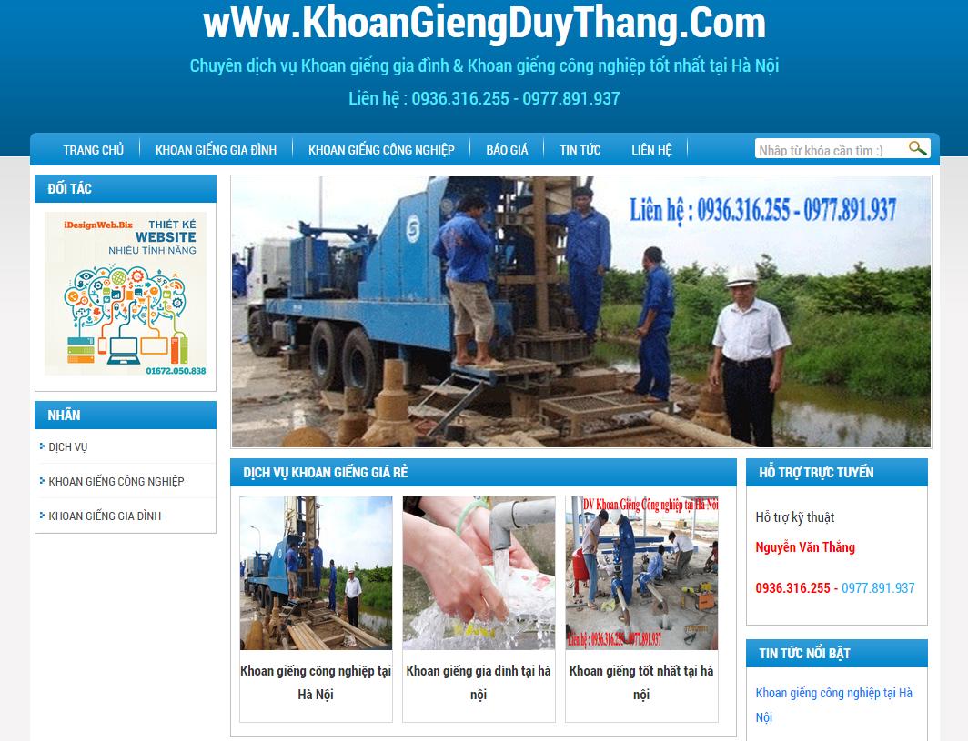 Thiết kế website lĩnh vực khoan giếng