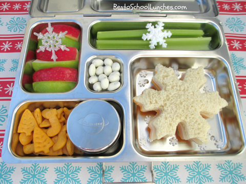 Snowflake, Christmas, Planetbox Review, Bento School Lunches