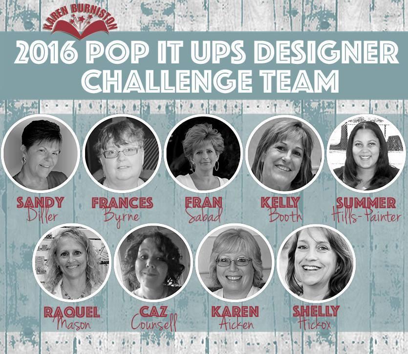 Proud member of Karen Burniston's 2016 Design Team