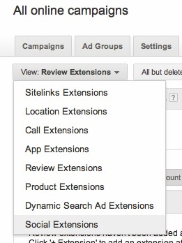 Google AdWords: Ad extensions.