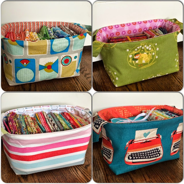 Fabric gift baskets sewing tutorial