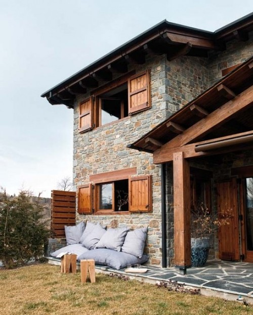 Mountain house outdoor decor luxury lifestyle design for Mountain house architecture