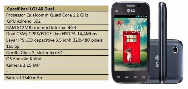 Spesifikasi LG L40 Dual
