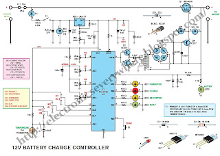 battery charge controller schematic