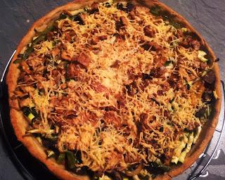 Pizza Végétarienne après cuisson