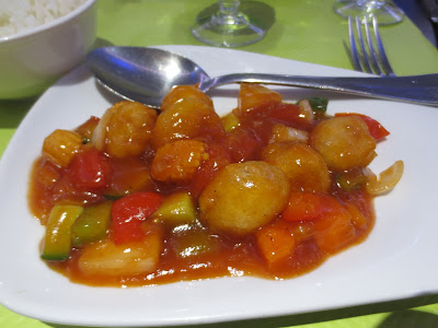 Sweet and sour tofu or pork, Vegebowl
