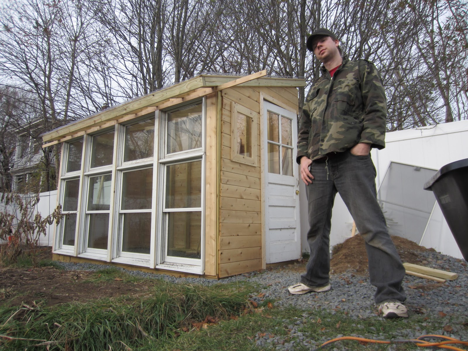 A 2009 2011 updated photo gallery my for Tiny house with greenhouse