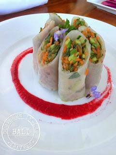 Gluten Free in Bali - Cascades Restaurant Ubud Rice Paper Rolls