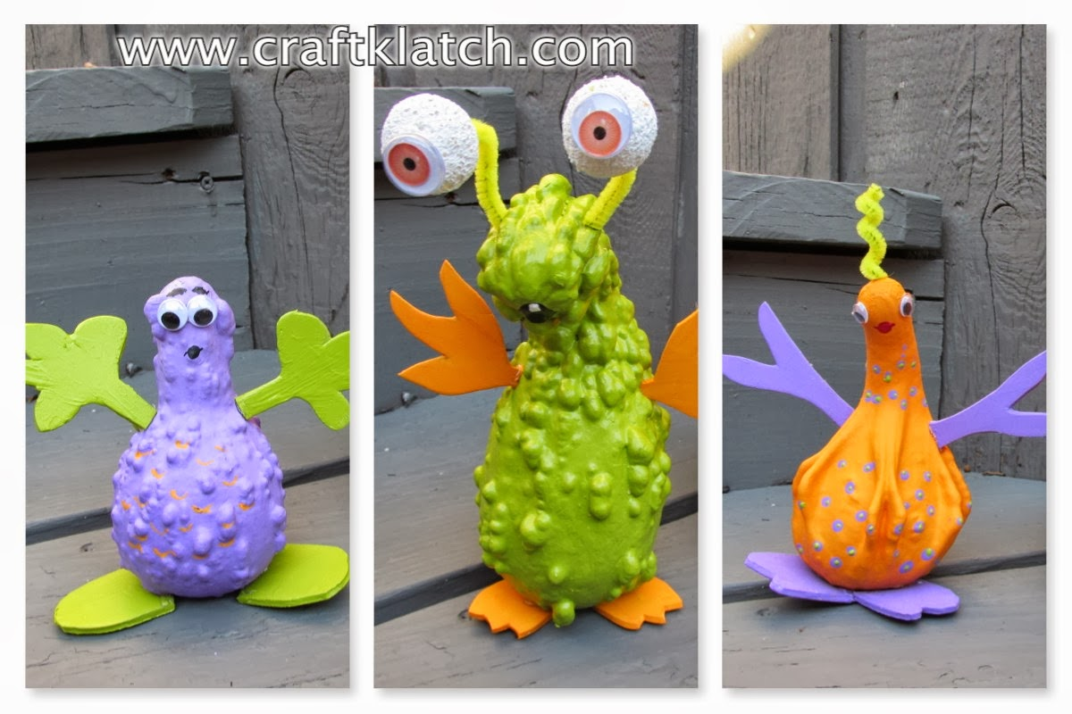 Craft klatch gourd aliens halloween craft tutorial for Where to buy gourds for crafts