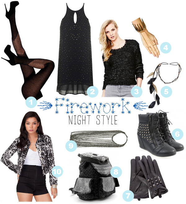 Firework night style. UK Tights, Inlovewithfashion, Littlewoods, Boohoo, Select Fashion, Republic, Missguided, Miss Selfridge, Motel Rocks. Street style.