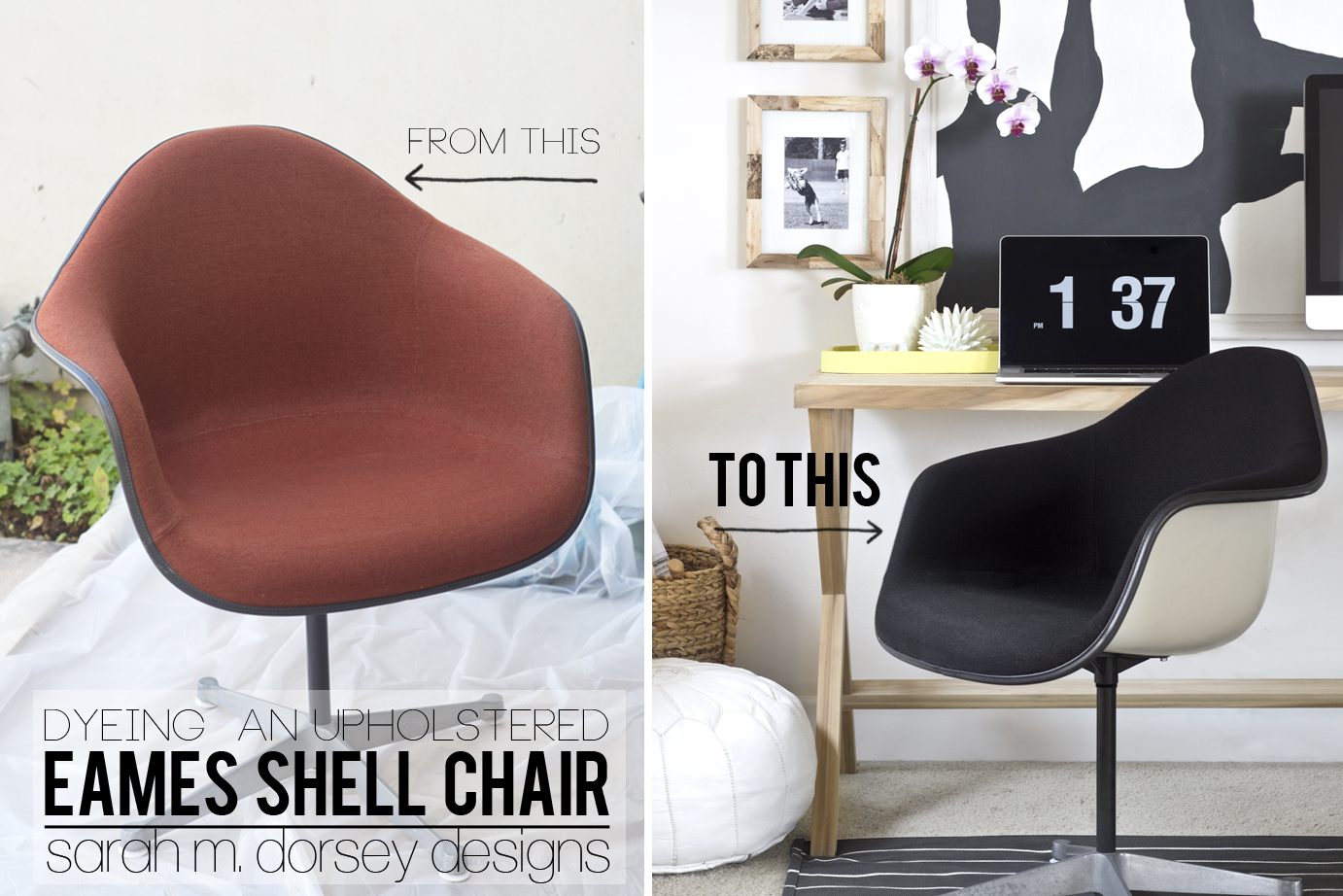 Dyeing An Upholstered Eames Shell Chair