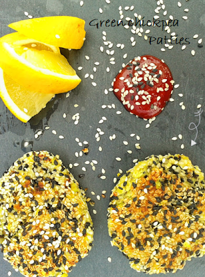 Welcome to Mommyhood: Healthy recipes - sesame chickpea patties