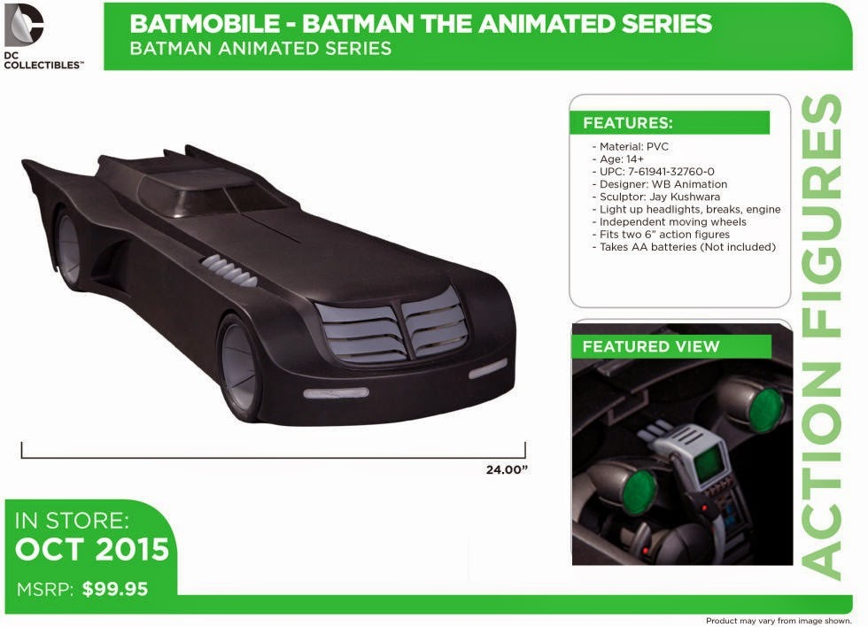 "Batman: The Animated Series Batmobile 6"" Scale Vehicle"