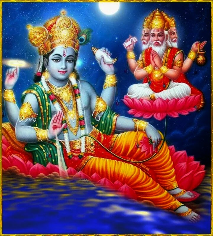 Mahavishnu and Brahma Deva