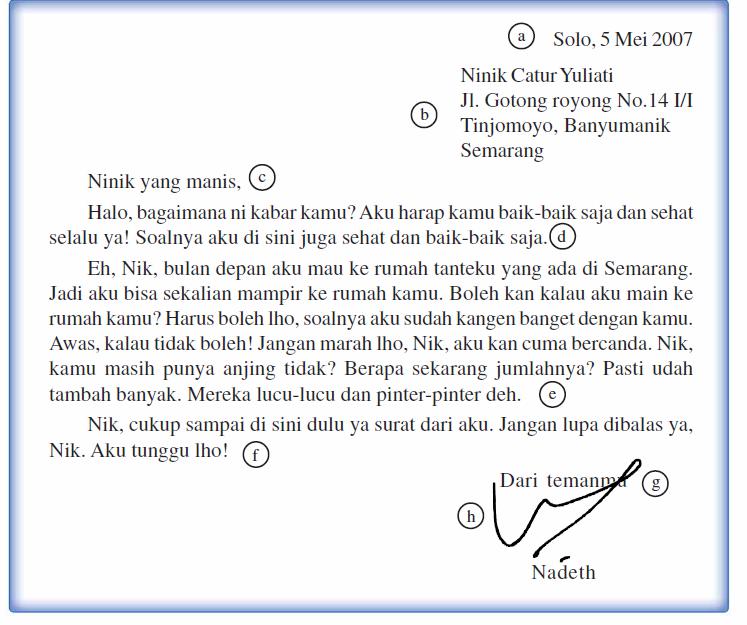 Soal Bahasa Indonesia Jelaskan Pengertian Surat Pribadi