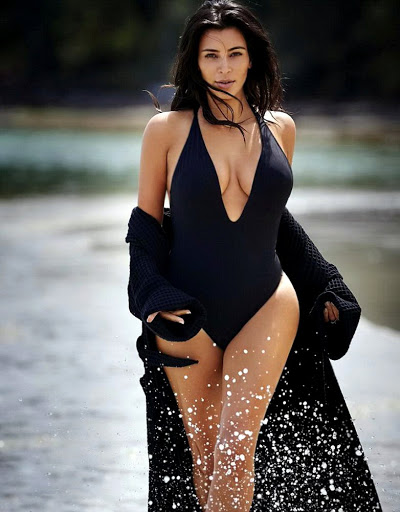 Kim Kardashian hot in sexy swimsuit photo shoot for Editorialist Magazine Spring 2016