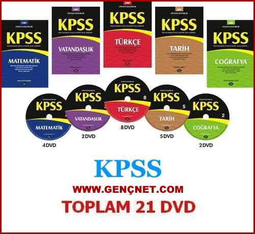 Dev KPSS Seti - KPSS Hazırlık Eğitim Seti 21 DVD İndir