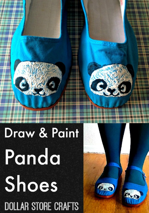 Draw & Paint Panda Shoes