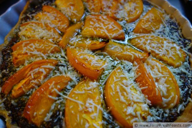http://www.farmfreshfeasts.com/2013/07/green-and-gold-basil-tomato-tart.html
