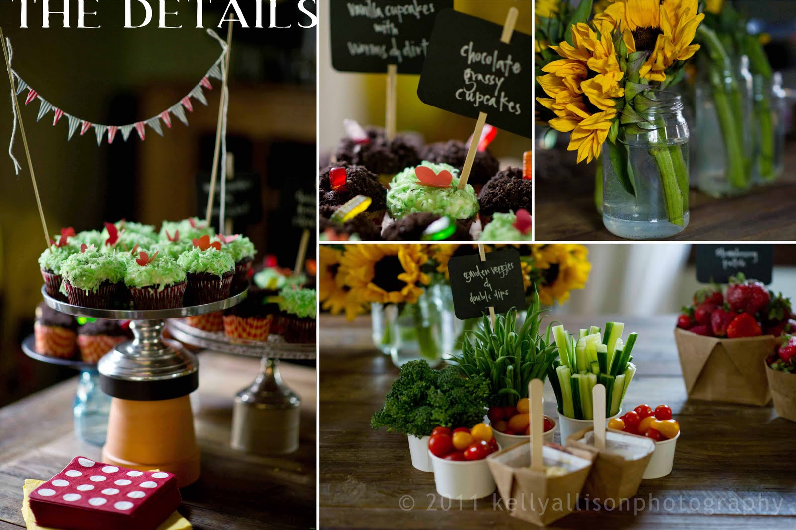 Happy birthday to you garden party kellyallison for Food garden ideas