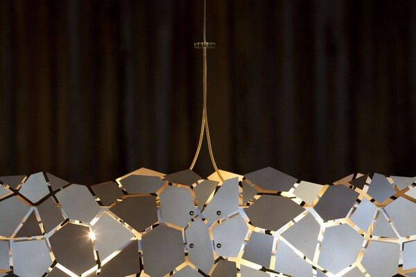 beautiful linear suspension lights
