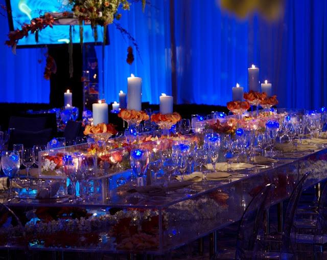 Wedding Decorations Blue And Orange : Blue wedding luxury romantic modern decor