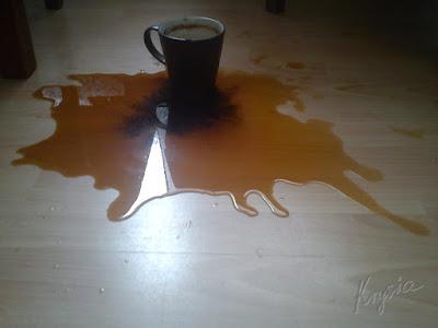 kawa się wylała - Krysia to uszyła - krysiakowo