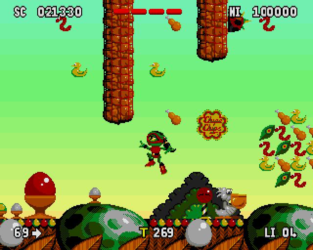 Coleccionando juegos de Amiga: Zool y Zool 2