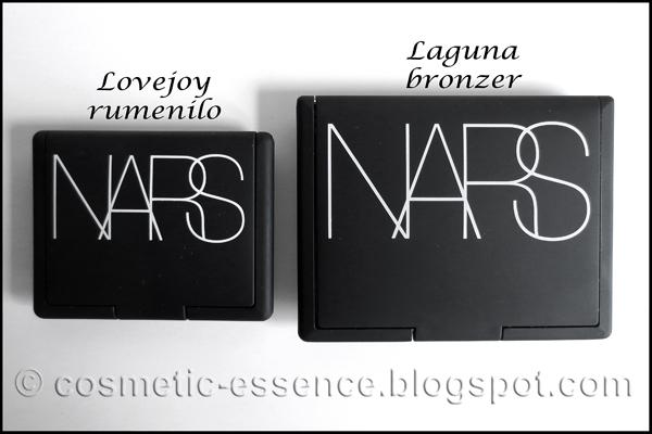 Usporedba ambalaže NARS rumenila i bronzera