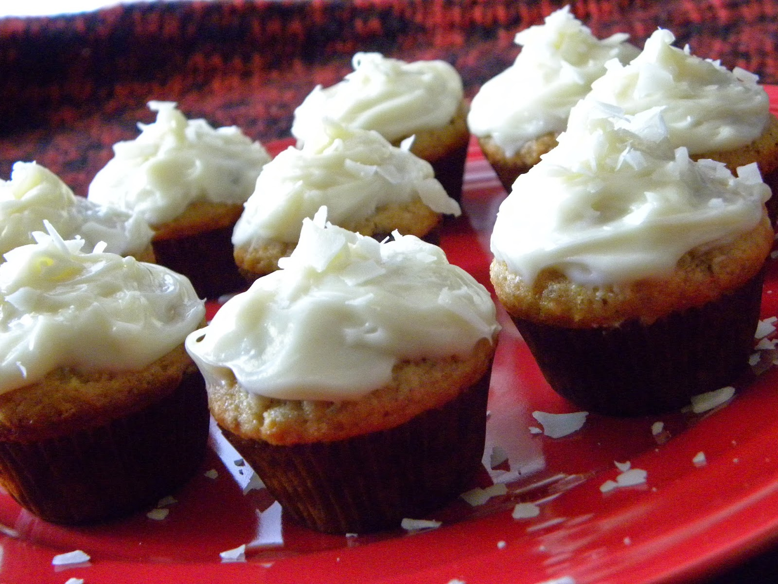 Light and airy cupcakes with a tropical flavor, topped with delicious frosting