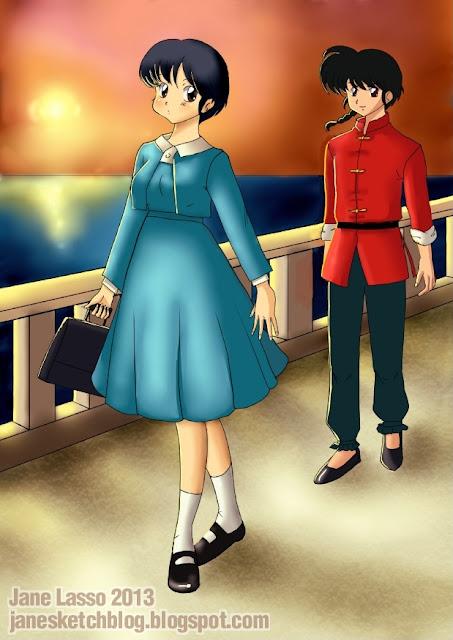Fanart de Ranma y Akane
