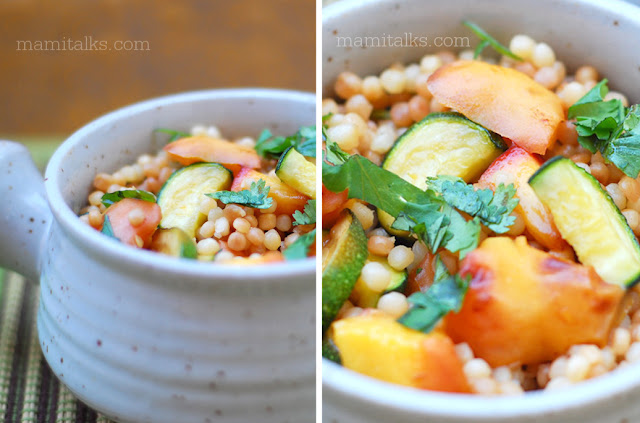 couscous with zucchini and apricot
