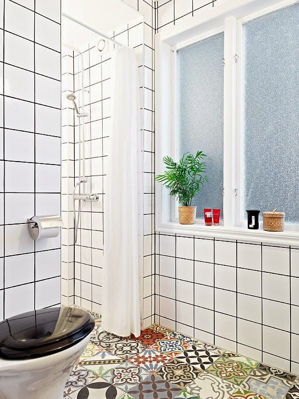 To Da Loos Patchwork Tile Bathroom Floors