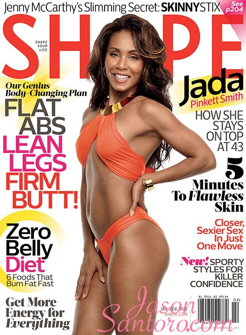 Jada Pinkett Smith COvers Shape magazine February 2015