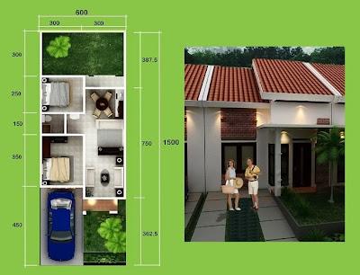 design sket dan denah Rumah minimalis sederhana