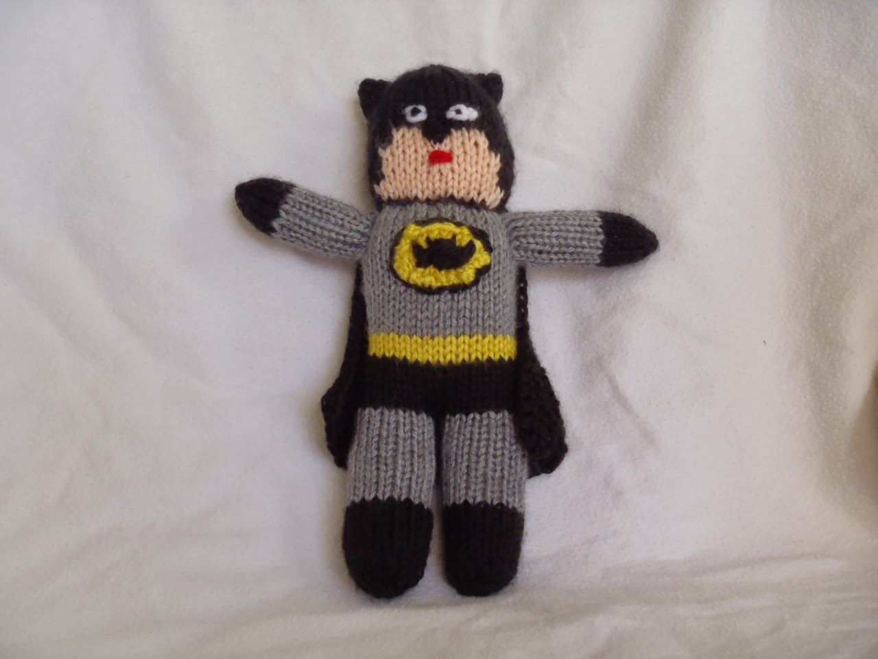Stanas Critters Etc.: Knitting Pattern for Batman Toy