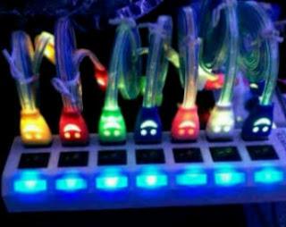 Kabel Data Lampu Led full (Smile) USB to Micro